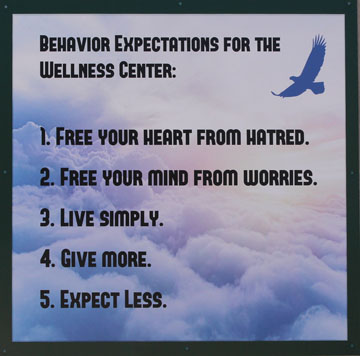 Behavior expectations for wellness center