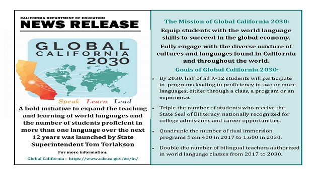 news release all students will graduate bilingual