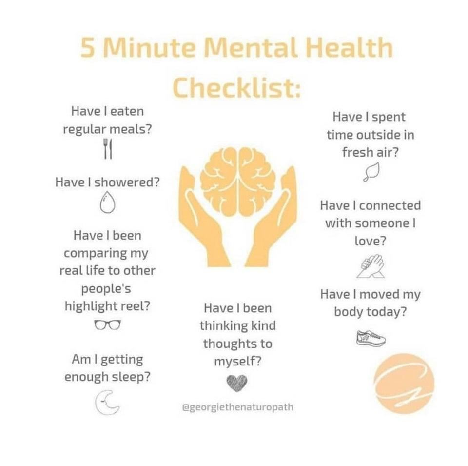 5 Minute Mental Health Checklist