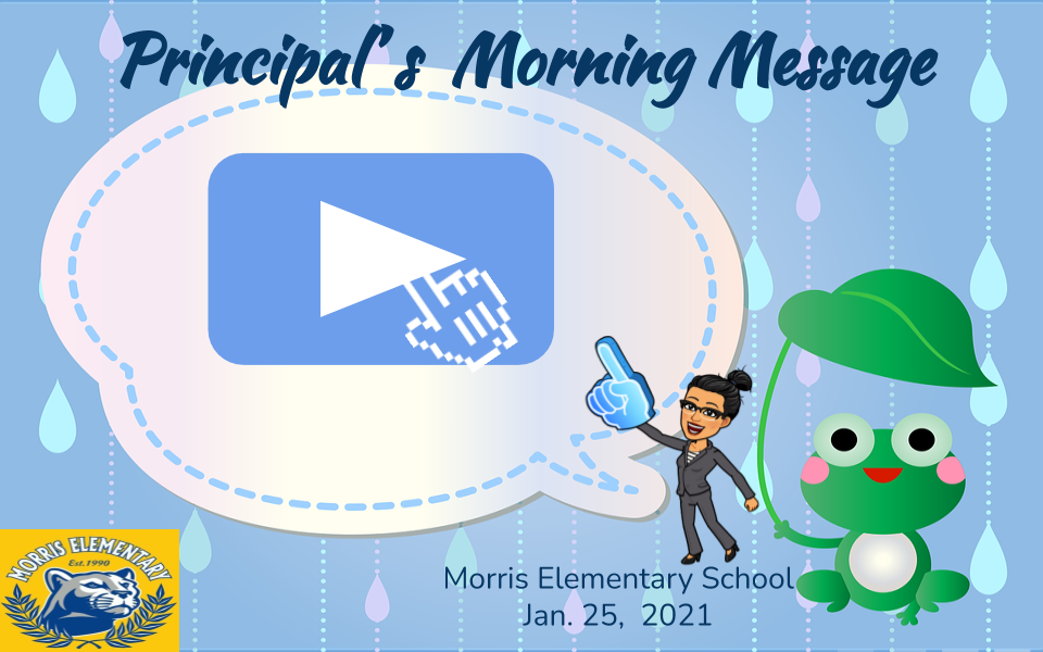 Principal's Morning Message