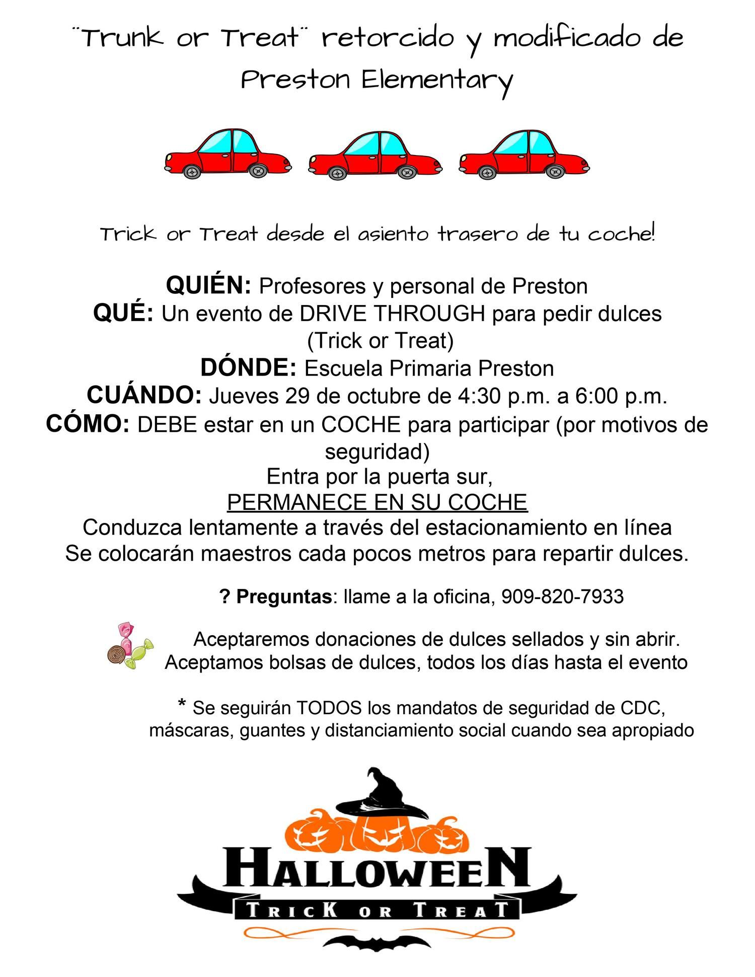 TRUNK OR TREAT- SPANISH