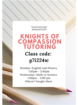 Knights of Compassion Tutoring