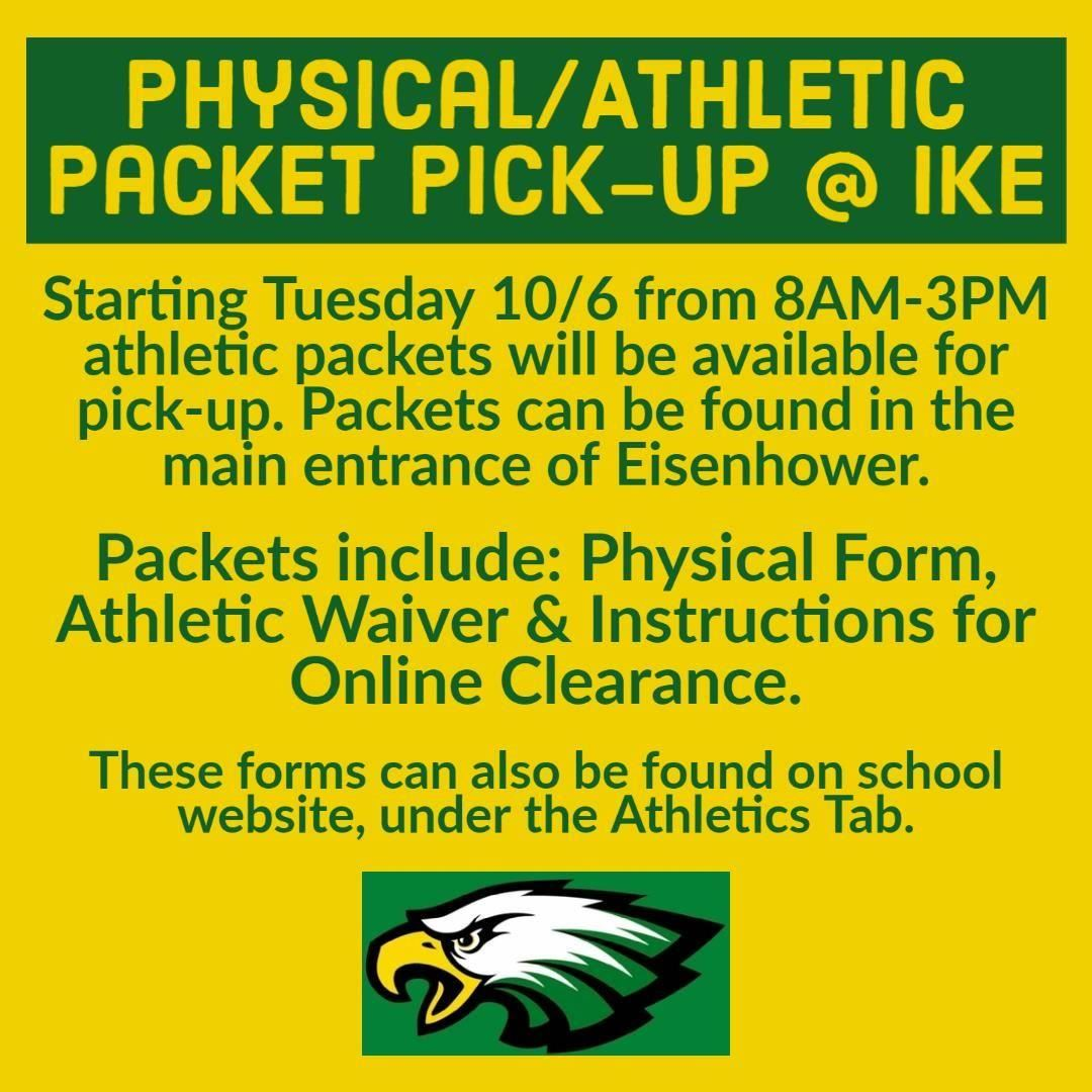 pick up athletic packet